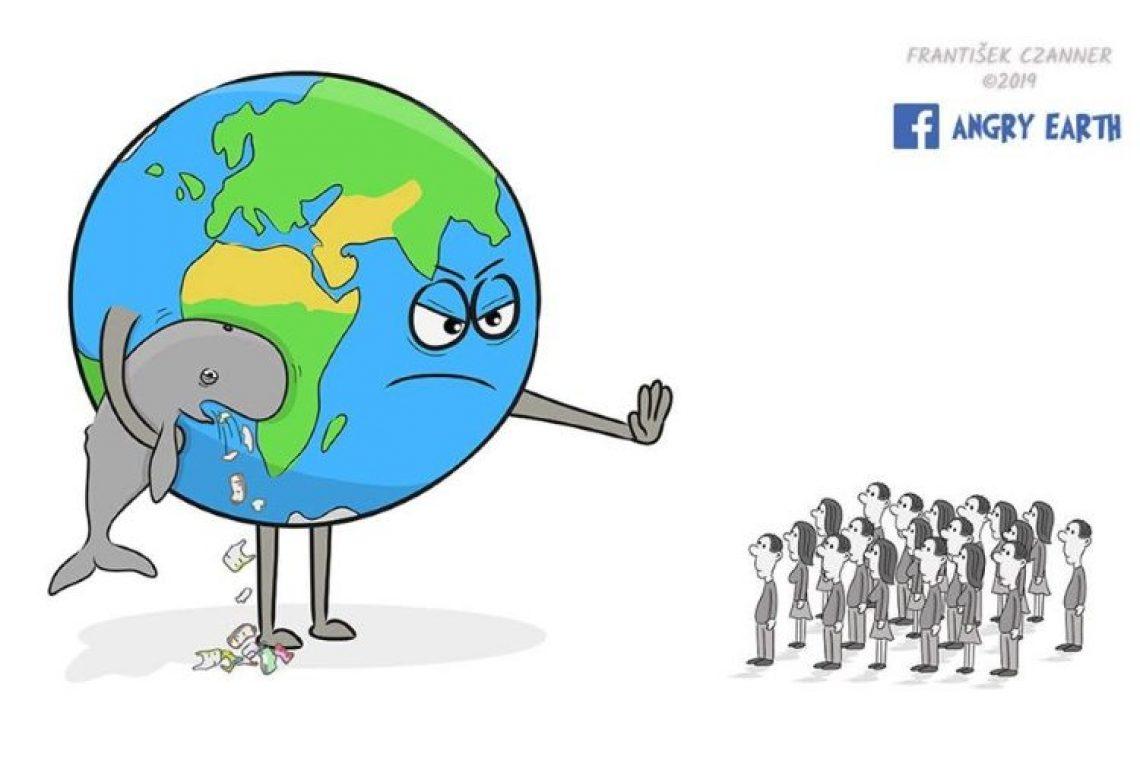 Καλλιτέχνης ευαισθητοποιεί τον κόσμο απεικονίζοντας τους αγώνες της Γης με τους ανθρώπους (φωτογραφίες)